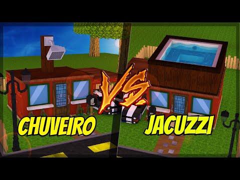 CASA DE JACUZZI VS CASA DE CHUVEIRO NO MINECRAFT