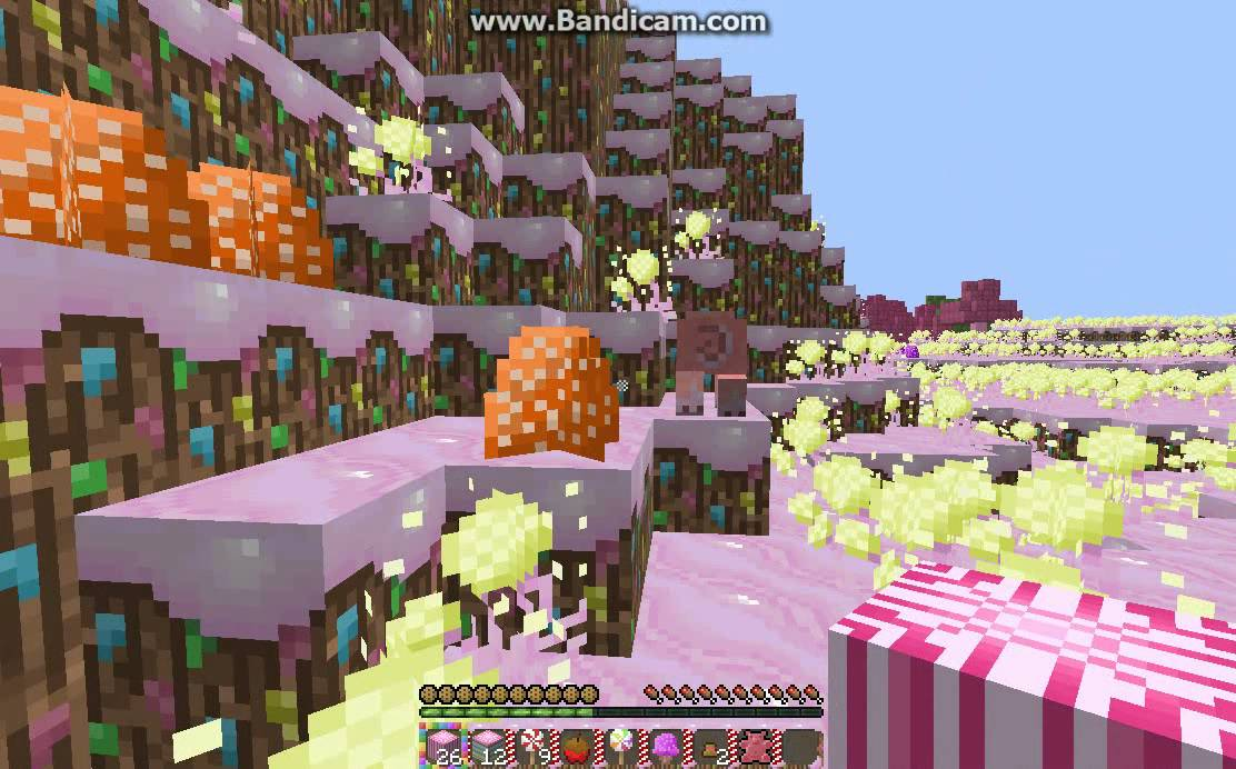 Minecraft - SP lets play EP.1:Candy-Craft Texture Pack :) - YouTube