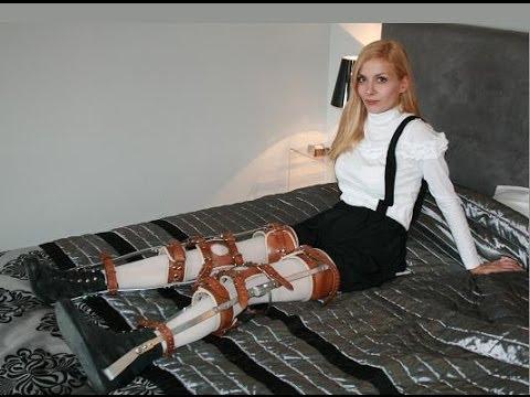 Paraplegic wearing high heels