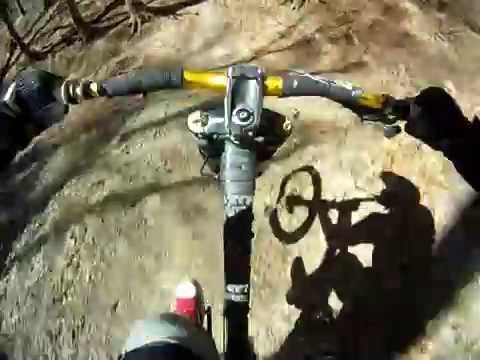 Local MTB Freeride/Downhill Trails... m. 9 Meter Jump!(Go Pro 960-Brustgurt)