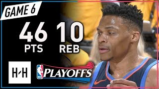 Russell Westbrook Full Game 6 Highlights Thunder vs Jazz 2018 Playoffs - 46 Pts, 10 Reb, 8 Ast