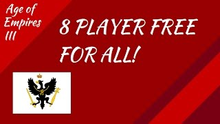 8 Player Free for ALL! In AoE III