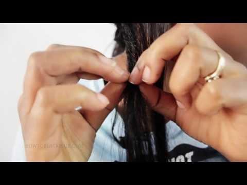 Tutorial Tree Braid Weave Hair Extensions 36