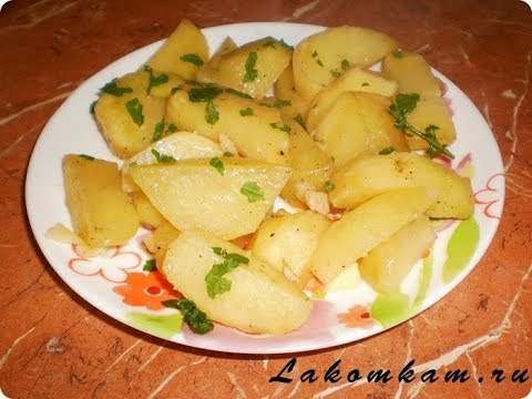 Картофель в ЧЕСНОЧНОМ соусе запеченный в РУКАВЕ. Очень просто и недорого!