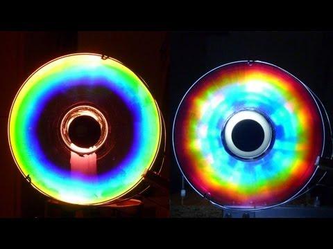 Cómo hacer Colores Alucinantes con un CD (Arco iris Casero) /experiencia de Física