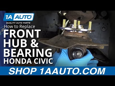 How to Replace Install Front Hub and Bearings 2003 Honda Civic