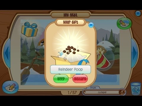 Animal Jam: Mail Time w Lauren #11 REINDEER POOP :D