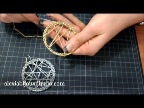 DIY – tutorial orecchino a cerchio uncinetto argento -oro gioielli fai da te facile e semplice