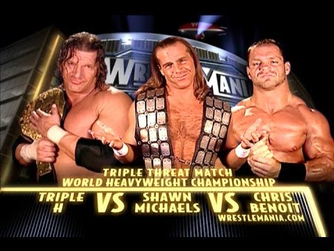 WWE 2K14 Triple H vs Shawn Michaels vs Chris Benoit (Wrestlemania 20)