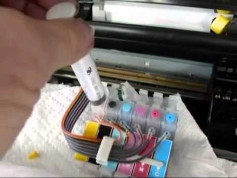 How To Puge air from  Epson Continuous Ink Supply System by inkproducts.com