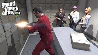 MICHAEL and HIS FAMILY ROBS A BANK! (GTA 5 Mods)