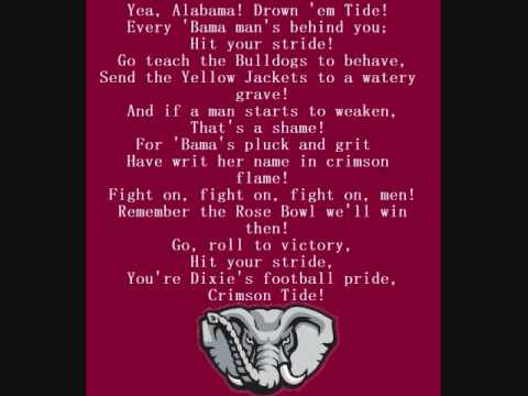 Alabama Crimson Tide Fight Song Video