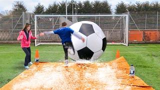 GIANT FOOTBALL SLIP 'N' SLIDE vs MY MUM