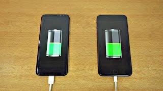 Samsung Galaxy S8 Plus vs iPhone 7 Plus - Battery Charging Speed Test! (4K)