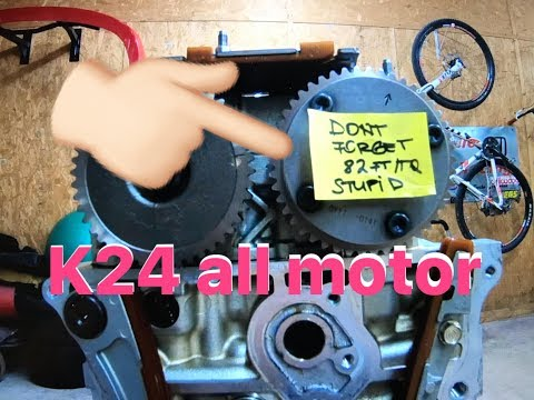 k20a2 oil pump and 50 deg vtc swap in a k24