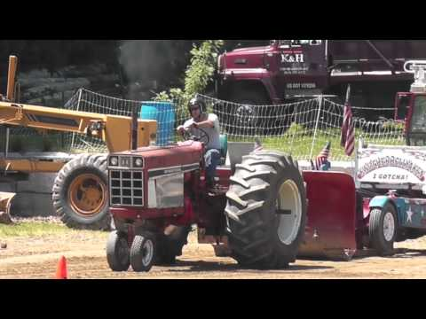 Tractor Pulling, Antique Tractors and Engines at Brooklyn Ag Days, Brooklyn CT, June 2013
