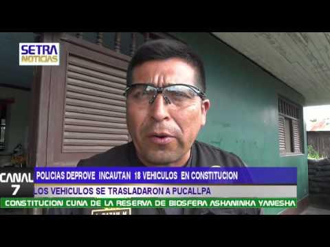 CONSTITUCION- DEPROVE INCAUTA 18 VEHICULOS  CON DENUNCIAS POR ROBO