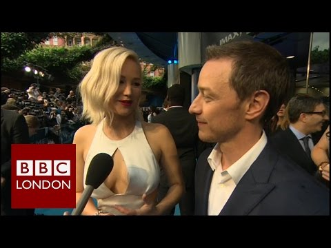 Jennifer Lawrence & James McAvoy interview at premiere of X-Men: Apocalypse