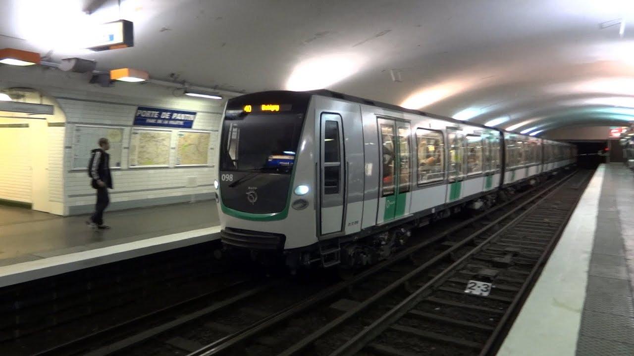 Paris metro mf 01 stif porte de pantin youtube for Porte de pantin salon