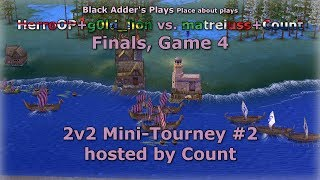 Count's 2v2 Mini-Tourney #2, F - HerroOP+g0ld_lion vs. matreiuss+Count, G4 - Age of Mythology: TT