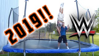 Top 50 WWE Finishers of 2019 on Trampoline