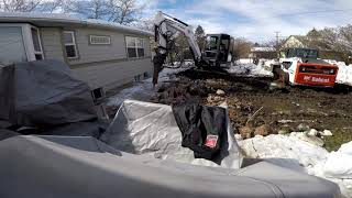 patio demo with bobcat e42