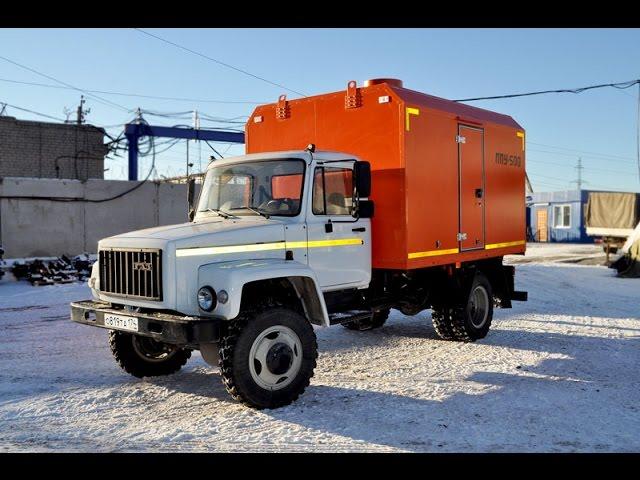 Паропромысловая установка ППУА 500/0,6 ГАЗ 33086