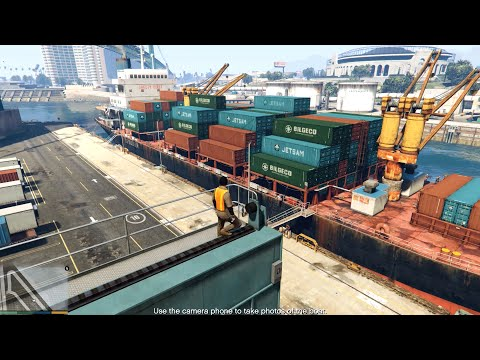 GTA V (PC) - Scouting the Port (The Merryweather Heist) - Mission GAMEPLAY (1080p 60 fps)