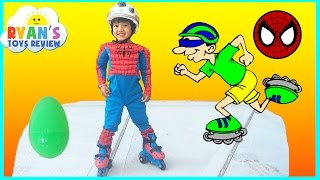Ultimate Spiderman Roller Skates for Kids with Eggs Surprise Toys