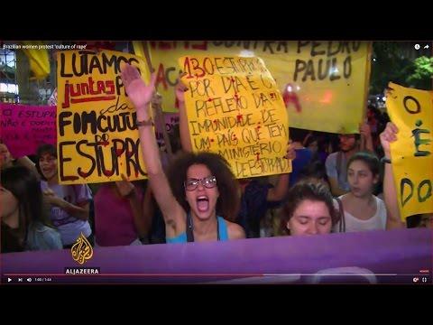 Brazilian women protest 'culture of rape'