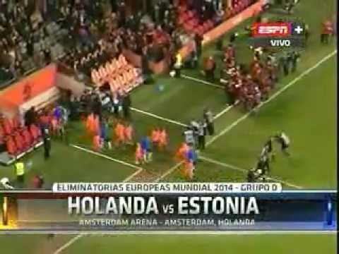 Holanda vs Estonia 3-0 Eliminatorias Brasil 2014