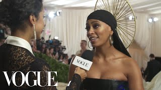 Solange on Her Braided Halo & Performing With Beyoncé at Coachella | Met Gala 2018 With Liza Koshy