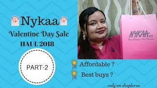 Nykaa Affordable Haul 2018 |Nykaa Valentine Haul | Huge Valentine's Day makeup sale haul | PART 2
