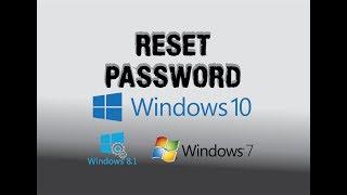 Reset password de windows 10, 8.1,8,7, todas las versiones, eliminar contraseña