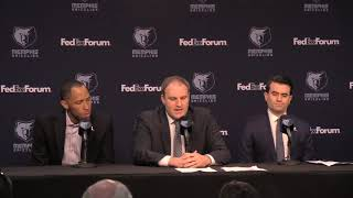 Taylor Jenkins makes his first statement as the new Memphis Grizzlies head coach