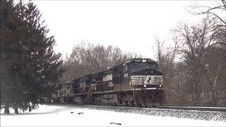 NS 17N with Erie Lackawanna 1700 Trailing  2/8/2018