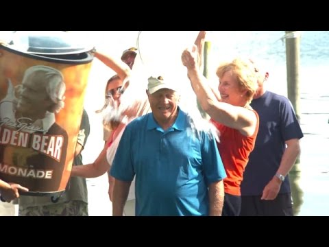 Jack Nicklaus accepts the Ice Bucket Challenge