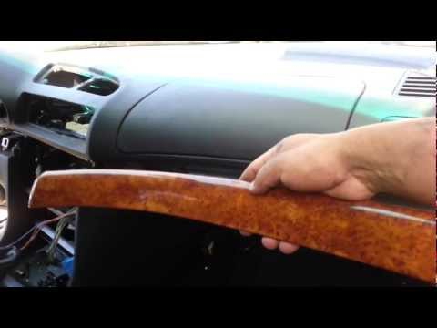 Bmw e38 upper glove box wood trim removal 740