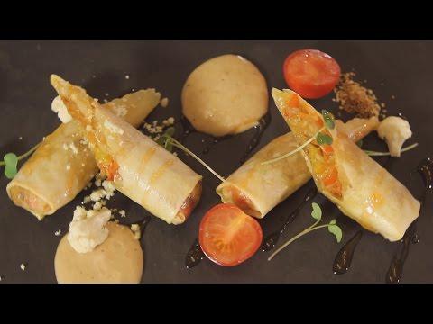 Овощные спринг-роллы с ореховым соусом. Рецепт от шеф-повара.