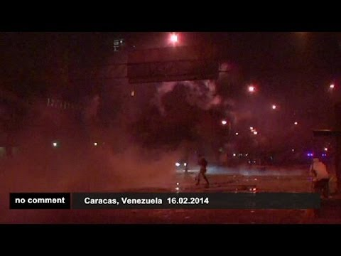 Students clash with police during protest in Venezuela - no comment