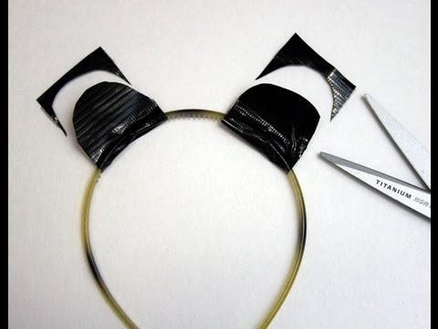 Duct Tape Tutorial: Animal Ears Headband - Panda Halloween ...