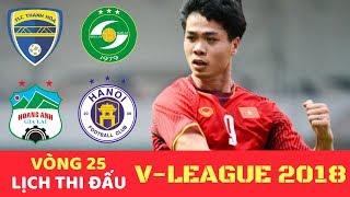 Lịch thi đấu & Trực tiếp Bóng đá V League 2018 Vòng 25 - HAGL vs Hải Phòng - VTV6 17H 2/10/2018