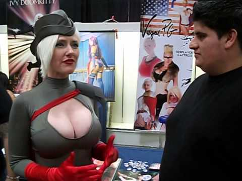Pablo Escobar on Scene with Vegas PG as (power girl) at Cosplay Expo thumbnail