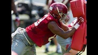 LaBryan Ray second Alabama football practice