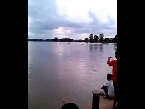 Perahu bidar mini disungai musi pengumbuk 2014