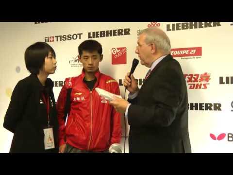 Zhang Jike - Interview 2013 Paris