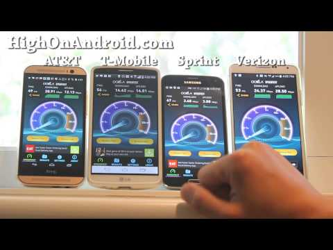 AT&T vs. T-Mobile vs. Sprint vs. Verizon 4G LTE Speed Test!
