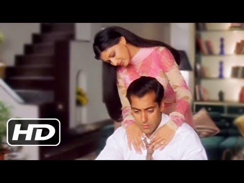 Sonali Bendre Comforts Salman Khan - Best Romantic Scene - Hum...
