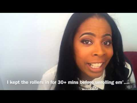 CONAIR Hot Clips Rollers used on 100% Natural African American Hair