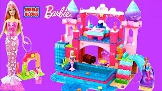 Mega Bloks Barbie Build N Play Underwater Castle with Mermaid Barbie Dolls